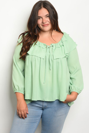 S10-19-2-T3407X MINT PLUS SIZE TOP 2-2-2