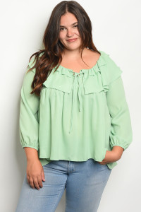 122-2-1-T3407X MINT PLUS SIZE TOP 1-2-2