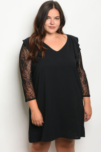 S3-8-4-D5866X BLACK PLUS SIZE DRESS 2-2-2