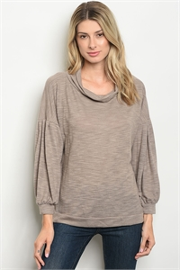C24-B-5-T9248 TAUPE TOP 2-2-2