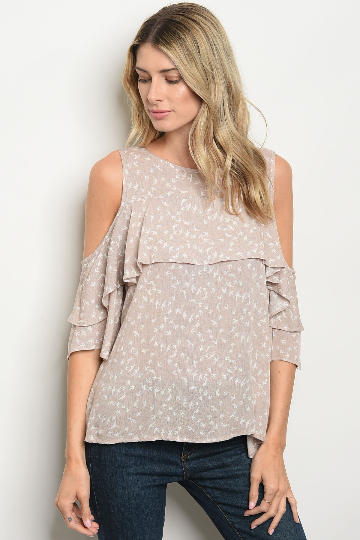 54926bad94784e ... TAUPE OFF WHITE TOP 2-2-2. Larger Photo ...