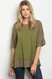 S11-6-5-T2649 OLIVE TOP 2-2-2