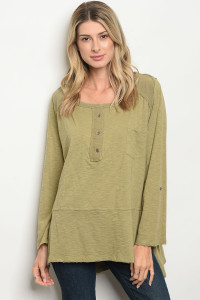 S14-10-6-T2476 OLIVE TOP 2-2-2