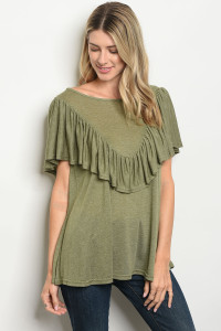 S11-8-4-T2543 OLIVE TOP 2-2-2