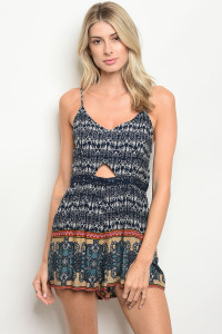 S16-3-4-R3107 NAVY TAUPE ROMPER 2-2-2