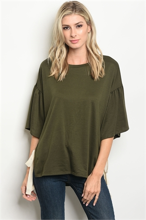 C67-A-6-T2965 OLIVE TOP 2-2-2