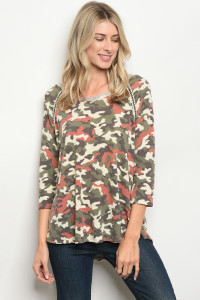 C42-B-5-T4393 EARTH CAMOUFLAGE TOP 2-2-2