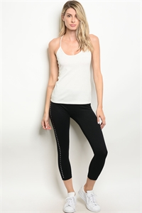126-1-4-LMK09 BLACK LEGGINGS / 5PCS