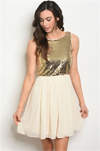 S18-4-4-D3096 GOLD SAND WITH SEQUINS DRESS 3-2-1