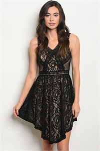 S18-5-4-D024 BLACK NUDE DRESS 2-2-2
