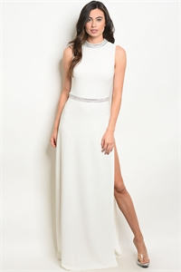 S18-8-5-D1053 WHITE WITH STONES DRESS 2-2-2