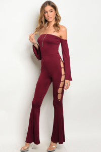 C23-A-1-J11118 WINE JUMPSUIT 2-2-2