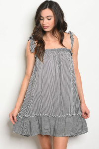 C59-A-1-D3067 BLACK WHITE STRIPES DRESS 2-2-1