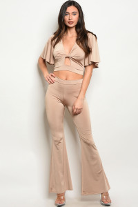 C66-A-1-SET5992 TAUPE TOP & PANTS SET 3-2-2