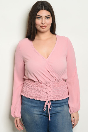 C2-B-2-T1427X BLUSH PLUS SIZE TOP 2-2-2