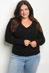 C2-B-3-T1472X BLACK PLUS SIZE TOP 2-2-2