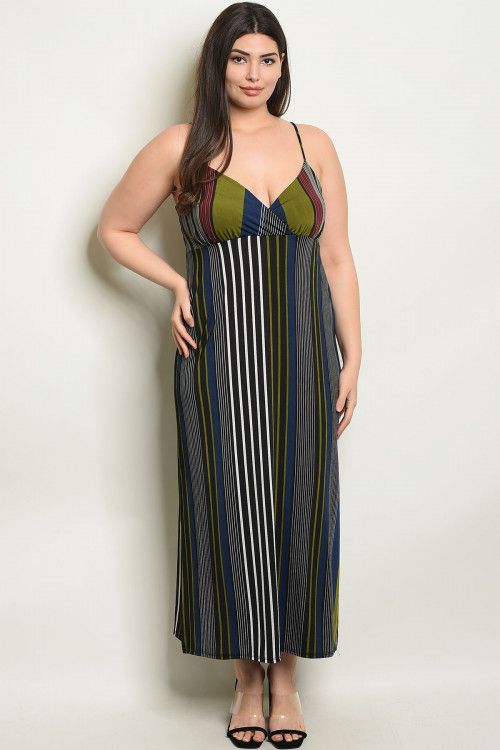 C13-A-3-D1670X BLACK OLIVE PLUS SIZE DRESS 2-2-2