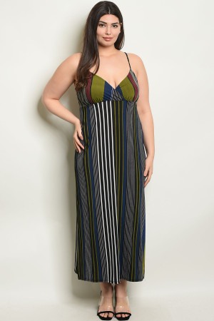 C2-A-1-D1670X BLACK OLIVE PLUS SIZE DRESS 1-1-2