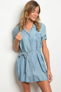 S13-2-5-D377 BLUE DENIM DRESS 3-2-1