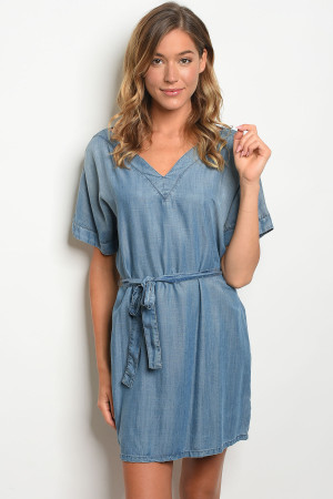 S13-2-5-D287 BLUE DENIM DRESS 3-2-1