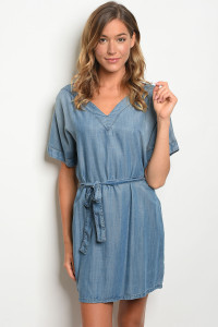 S18-10-1-D287 BLUE DENIM DRESS 4-2-1
