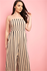 S18-9-4-J73590X BEIGE BLACK STRIPES JUMPSUIT 1-1-1-1