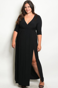 S13-5-2-MD7988X BLACK PLUS SIZE DRESS 2-2-2-2