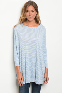 C86-A-5-T1109 BLUE STRIPES TOP 2-2-2
