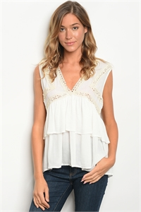 S18-7-4-T5034 OFF WHITE TOP 2-2-2
