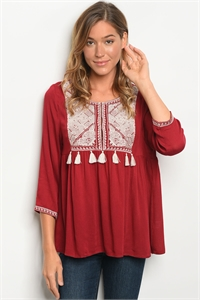 S18-10-2-T6000 BURGUNDY TOP 2-2