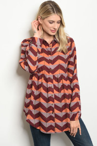 S18-6-2-T5840 BURGUNDY PEACH TOP 2-2-2