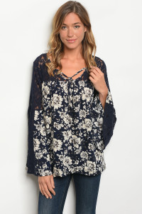 S13-5-4-T6063 NAVY CREAM TOP 2-2-2