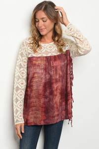 S18-11-2-T6069 CREAM PLUM TOP 1-2-1