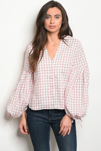 S13-4-4-T3224 RED CHECKERED TOP 2-2-2