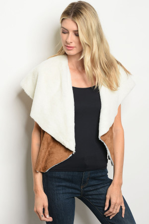 S18-9-6-V7478 CAMEL OFF WHITE VEST 2-2-2