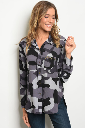 S13-10-1-T9862 GREY CAMOUFLAGE TOP 2-2-2