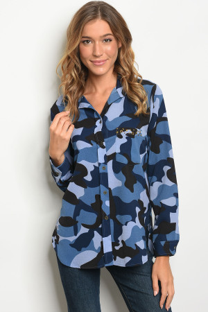 S13-10-1-T9862 BLUE CAMOUFLAGE TOP 2-2-2