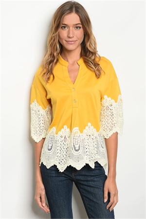 S13-10-5-T38674 YELLOW IVORY TOP 2-2-2