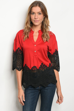 S17-6-5-T38674 RED BLACK TOP 1-1-1