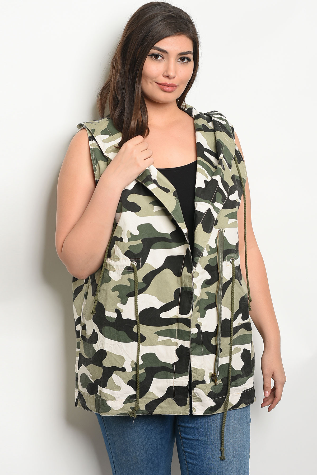 2c6ca4bbead ... CAMOUFLAGE PLUS SIZE VEST 2-1. Larger Photo ...