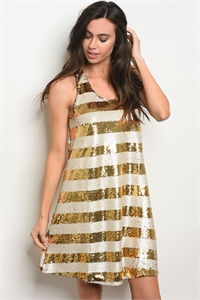 S16-12-1-D13286 IVORY GOLD WITH SEQUINS DRESS 4-2-1