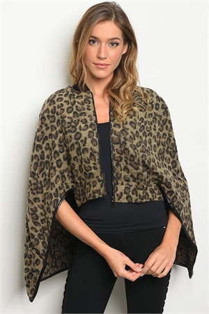 S18-2-2-T1289 TAUPE LEOPARD PRINT TOP 3-2-1