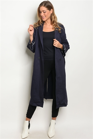 S10-20-1-JC1376 NAVY COAT JACKET 3-2-1