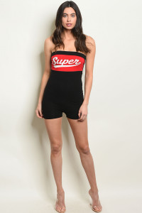 C2-A-6-R4948 BLACK RED ROMPER 2-2-2