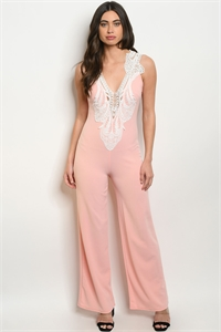 C4-A-4-J4492 BLUSH WHITE JUMPSUIT 2-2-2