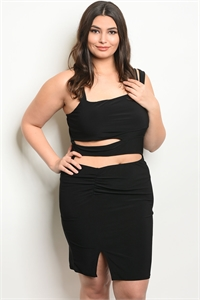 C90-A-6-D50281X BLACK PLUS SIZE DRESS 2-2-2
