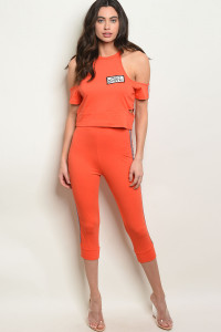 S3-9-5-SET9702 ORANGE TOP & CAPRI PANTS SET 2-2-2