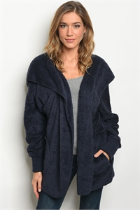 114-WALL-S0530 NAVY SHERPA JACKET / 6PCS