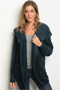 114-WALL-S0530 TEAL SHERPA JACKET / 6PCS