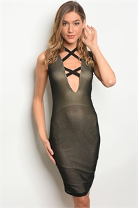 C42-A-1-D5993-A BLACK GOLD SHIMMER DRESS 3-2-2
